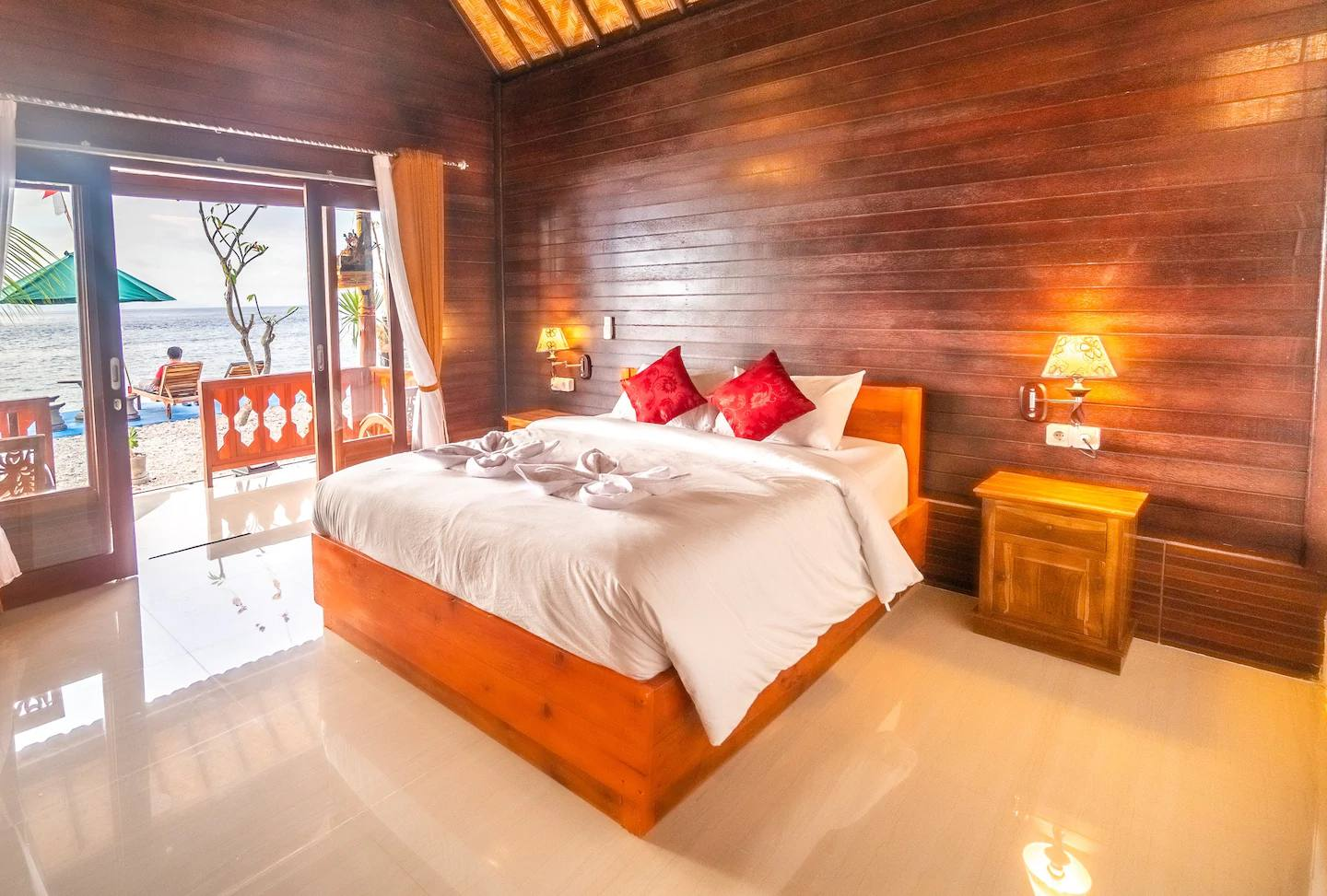 Merta Beach Bungalow Bedroom